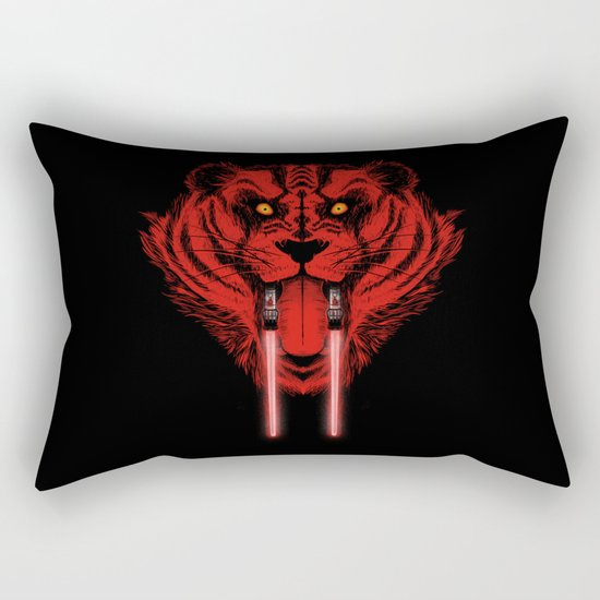 Dark Side Saber-Toothed Tiger Rectangular Pillow