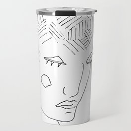 Abstract nonsense portrait Travel Mug