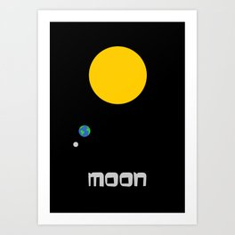 The Moon in Minimal Art Print