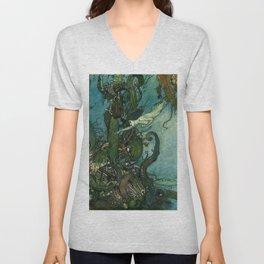 The Mermaid By Edmund Dulac  Unisex V-Neck