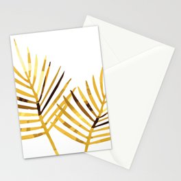 Palm Leaf Illustration white background Stationery Cards