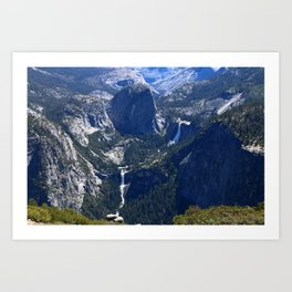 Vernal Falls And Nevada Falls Art Print