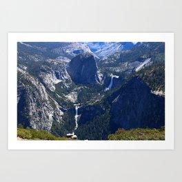 Vernal Falls And Nevada Falls Art Print