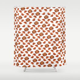 Pups and poppies Shower Curtain
