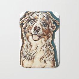 dog australian shepherd american Bath Mat