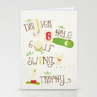 golf Stationery Cards featuring Golf  by Crea Bisontine