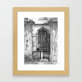 Wrought Iron Gate - Charleston, South Carolina Framed Art Print