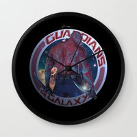 thanos Wall Clocks featuring Drax The Destroyer - Guardians of the Galaxy  by Leamartes