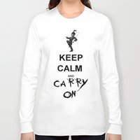 my chemical romance Long Sleeve T-shirts featuring Keep Calm and Carry On: My Chemical Romance by alainaci