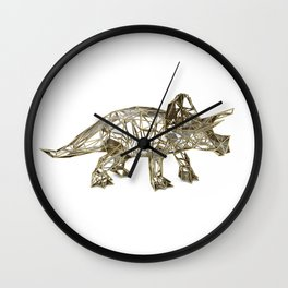 GOLD TRICERATOPS Wall Clock
