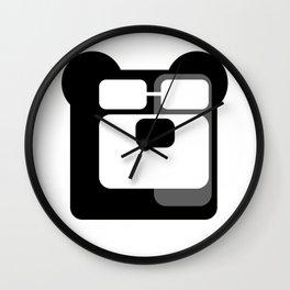 The Intelligent Bear Logo Wall Clock