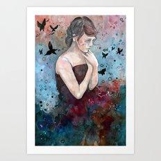 Forgotten painting, watercolor Art Print