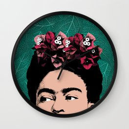 Floral Frida Wall Clock