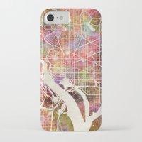 washington iPhone & iPod Cases featuring Washington by MapMapMaps.Watercolors