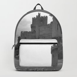 Black and white English Castle Backpack