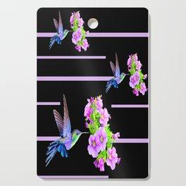 Hummingbirds-Black Cutting Board