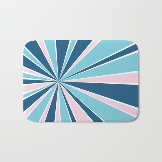 Starburst Pink and Blue Bath Mat
