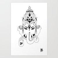 """""""Ganesh"""" Art Print"""