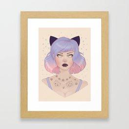 Cat Paw Tattoo Framed Art Print
