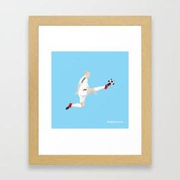 Flying Zidane Framed Art Print