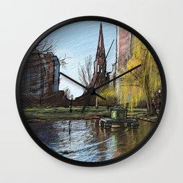 Public Garden 3 Wall Clock