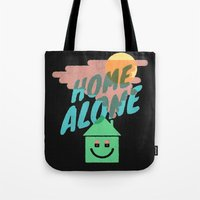 home alone Tote Bags featuring Home Alone by Nick Nelson