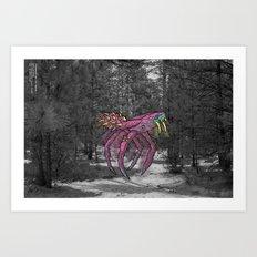 Unseen Monsters of Mount Shasta - Sqwizick Pinch Art Print