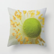 Green and Fluffy Throw Pillow
