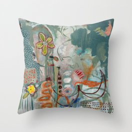 Not so Green Thumb Throw Pillow