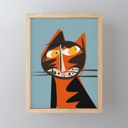 The Cat Framed Mini Art Print