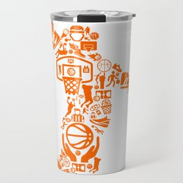 Basketball Art Dunk Travel Mug