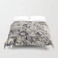 doodle Duvet Covers featuring Doodle by Antria Sofroniou