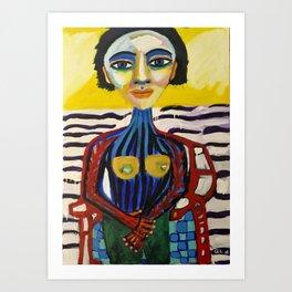 Mulher-Peixe Art Print