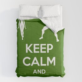Keep Calm and Be a Superhero Comforters