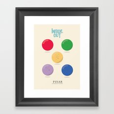 Inside Out - Minimal Movie Poster, animated movie, Framed Art Print