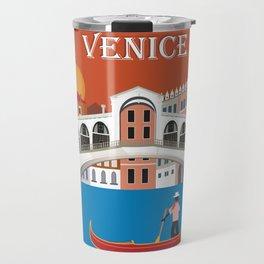 Venice, Italy - Skyline Illustration by Loose Petals Travel Mug