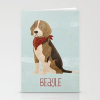 beagle Stationery Cards featuring Beagle by 52 Dogs