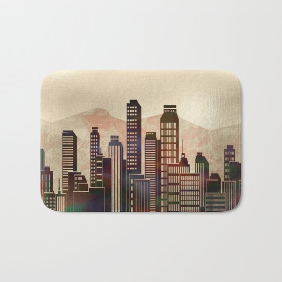 Metal City - beige Bath Mat