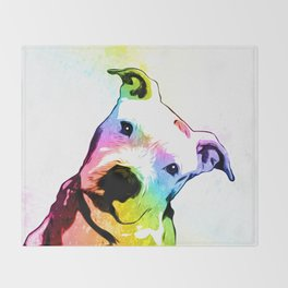 Pit bull | Rainbow Series | Pop Art Throw Blanket