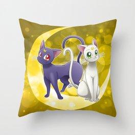 Luna & Artemis (Sailor Moon Crystal edit.) Throw Pillow