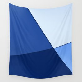 Four shades of blue. Wall Tapestry