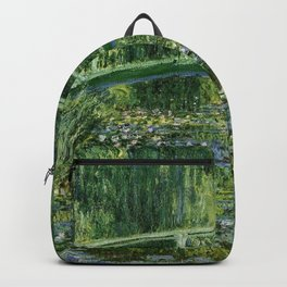 Water Lilies And The Japanese Bridge Claude Monet Backpack