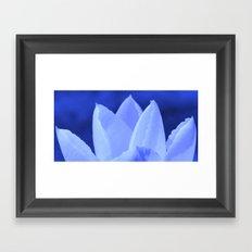 Blue like ice Framed Art Print