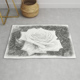 Pink Roses in Anzures 4 Charcoal Rug