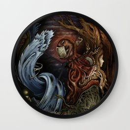 """Midnight Water Surge of Unknown Land"" Wall Clock"