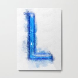 L Letter Metal Print