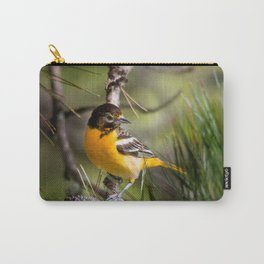 Oriole and Pine cone Carry-All Pouch