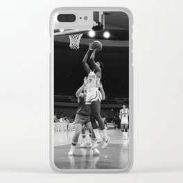 Barack Obama plays basketball for the Punahou School basketball team Clear iPhone Case