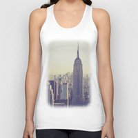 nyc Tank Tops featuring NYC by Chernobylbob