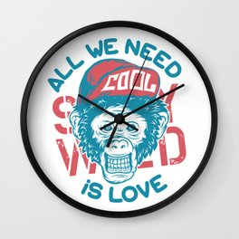All we need is Love Wall Clock